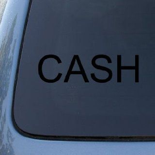 JOHNNY CASH   Vinyl Car Decal Sticker #1852  Vinyl Color Black Automotive