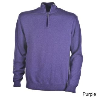 Luigi Baldo Luigi Baldo Italian Made Mens Cashmere 1/4 Zip Sweater Purple Size M
