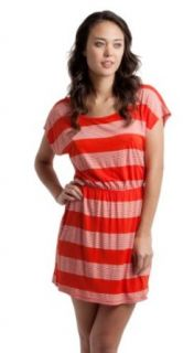 Rip Curl Seaside Stripe Dress, Orange, Small