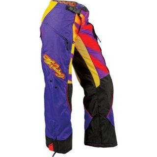 Fly Racing Kinetic Inversion Over Boot Youth Girls Motocross/Off Road/Dirt Bike Motorcycle Pants   Purple/Yellow / Size Y20 Automotive