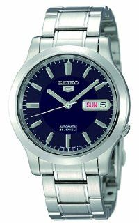 "Seiko Men's SNK793 ""Seiko 5"" Stainless Steel Blue Dial Automatic Watch Seiko Watches"