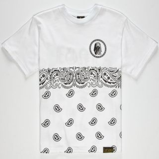 Paisley Tut Boys T Shirt White In Sizes Large, Medium, Small, X Larg