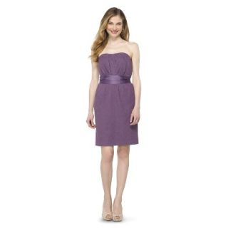 TEVOLIO Womens Lace Strapless Dress   Plum Spice   12