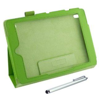 "Generic Stand Folio Leather Case Cover Pouch For Iconia Tab A1 810 7.9"" Green Computers & Accessories"