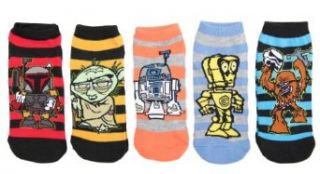 Star Wars Boys Shorties Striped Character Socks (Pack of 5) Size 9 11 Clothing