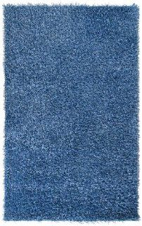"Surya Vivid VIV 818 Shag Hand Woven 100% Polyester Night Sky 1'9"" x 2'10"" Accent Rug   Throw Rug"