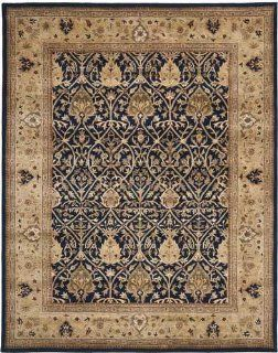 Safavieh PL819C 4 Persian Legend Collection Handmade Blue and Gold New Zealand Wool Area Rug, 4 Feet by 6 Feet