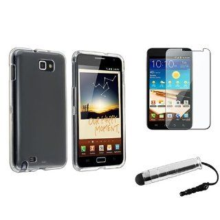 eForCity Clear Crystal Hard plastic Case with FREE LCD Cover + Stylus Pen compatible with Samsung? Galaxy Note LTE SGH i717 Cell Phones & Accessories