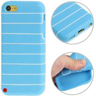 Generic Stripes Pattern TPU Protective Gel Rubber Case Cover for Apple iPhone 5C Blue Cell Phones & Accessories