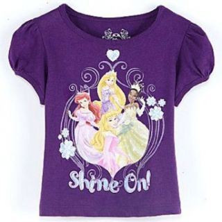 Disney Princess Toddler Girls Glittery Tee Shine On (2T) Clothing