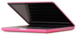Speck Products MB13AU SAT PNK MacBook 13 inch Aluminum Unibody/Black Keyboard See Thru Satin Soft Touch Hard Shell Case (Pink) Electronics