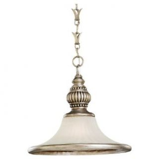 Sea Gull Lighting 65251 824 One Light Highlands Pendant, Dusted Ivory Glass Shade, Palladium   Ceiling Pendant Fixtures
