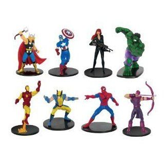 "MARVEL 4"" x 8 Figures in a Deluxe Pack 6 Avengers + Spiderman+Wovering Set of 8 ASSORTED (CAPTAIN AMERICA, THOR, HULK, IRON MAN, BLACK WIDOW, SPIDERMAN, WOLVERINE, HAWKEYE) Toys & Games"