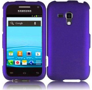 Purple Hard Cover Case for Samsung Galaxy Rush SPH M830 Cell Phones & Accessories