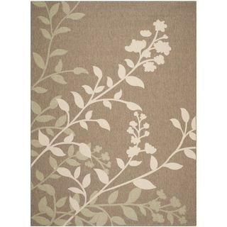 Safavieh Indoor/ Outdoor Courtyard Brown/ Beige Rug (8 X 11)