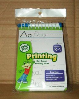 Leap Frog Printing Dry Erase Activity Book   Grades K 1 Toys & Games