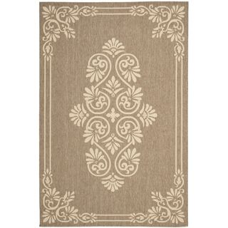 Safavieh Indoor/ Outdoor Courtyard Brown/ Creme Rug (710 X 10)