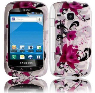 Purple Lily Hard Case Cover for Samsung Doubletime i857 Cell Phones & Accessories