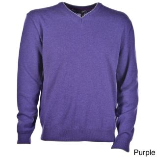 Luigi Baldo Luigi Baldo Italian Made Mens Cashmere V neck Sweater Purple Size L