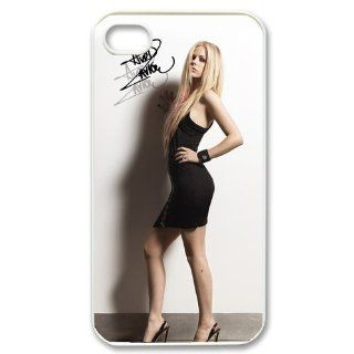 Custom Avril Lavigne Cover Case for iPhone 4 4s LS4 846 Cell Phones & Accessories