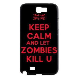 Custom Keep Calm and Kill Zombies Cover Case for Samsung Galaxy Note 2 N7100 NO4112 Cell Phones & Accessories