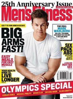 Men's Fitness Magazine July August 2012  Big Arms Fast  Sixpacs Abs  2012 Olympics Special   Prints