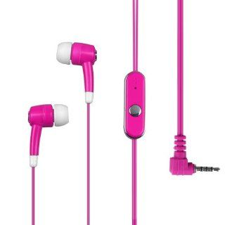 Hot Pink and White High Quality Stereo Handsfree Headset Mic Earphone Plugs for Nokia 2680 , 7510 , 1680 , 6301 , 6300 , 1208 , 5610 , 5300 , 5700 , 2760 , 1611 , 2720 , 3711 , 2330 , 2320 Classic, Huawei M860 M 860 Ascend Cell Phones & Accessories
