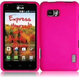 Rubberized Plastic Hot Pink Hard Cover Snap On Case For LG Mach LS860 (StopAndAccessorize) Cell Phones & Accessories