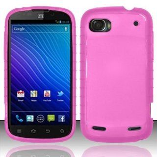 Hot Pink TPU Cover for ZTE ZTE Warp 2 N861 Cell Phones & Accessories