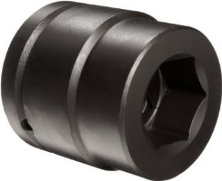 "Martin 8652 Forged Alloy Steel 1 5/8"" Type I Opening 1 1/2"" Power Impact Drive Socket, 6 Points Standard, 3 3/16"" Overall Length, Industrial Black Finish"
