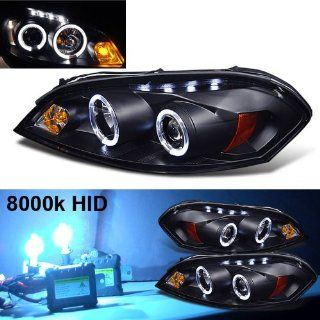 Eautolight 8000k Slim Xenon HID Kit+06 10 Chevy Impala 2x Halo LED Projector Head Lights Automotive