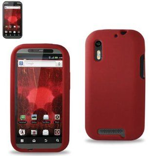 Reiko RKSLC01 MOTXT865RD Premium Durable Silicone Protective Case for Motorola Droid Bionic XT865   1 Pack   Retail Packaging   Red Cell Phones & Accessories