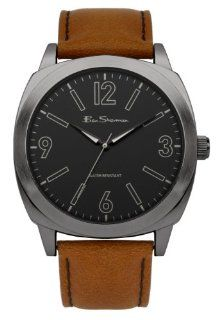 Ben Sherman R867 Mens Black and Tan Leather Strap Watch Watches