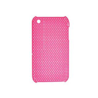 Apple iPhone 3G 3GS Hot Pink Mesh Hard Cover Case Cell Phones & Accessories