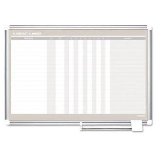 Mastervision In Out Magnetic Dry Erase Board, 36X24, Silver Frame