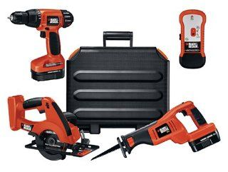 Black & Decker BDC418K2 18 Volt Ni Cad Cordless 4 Tool Combo Kit   Power Tool Combo Packs