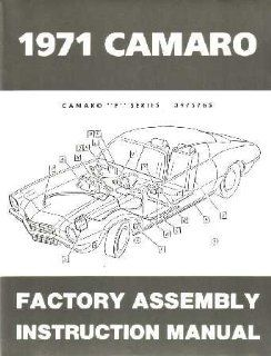 1971 CHEVROLET CAMARO F Series Assembly Manual Book Automotive