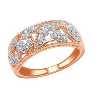 10 CT. T.W. Diamond Vintage Style Paisley Ring in 10K Rose Gold