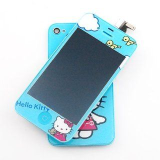 New Oriental Blue KTcat Plating LCD display+digitizer+frame+back Cover Mirror Full Chrome for iPhone 4S Cell Phones & Accessories