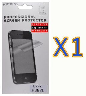 Huawei Vitria H882L Crystal Clear LCD Screen Protector Kit Exact Fit, No Cutting Needed. LifeTime Replacement Warranty (Fortress Brand) (1) Cell Phones & Accessories