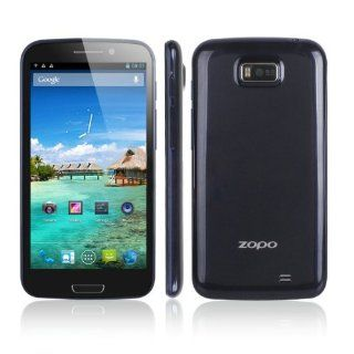 "AXCELLE Zopo 900 ZP910 3G 5.3"" IPS Android 4.1 Quad Core 1G RAM 4G ROM Bluetooth GPS(Black) Cell Phones & Accessories"