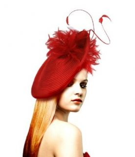 Kentucky Derby Fascinator Hat   L64 Red/Black