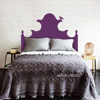 Queen Size Bed Special Victorian Castle Bird Headboard Wall Decal Wall Decals Home Wall Stcker Decals Decor Bedroom Vinyl Romoveralble 912