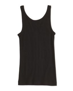 Girls Favorite Ribbed Tank Top, Black, 4 6X   Vince