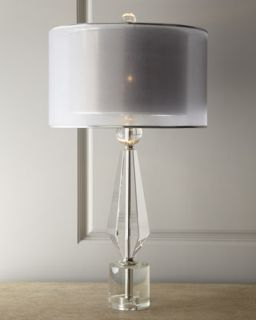 Double Shade Crystal Lamp   John Richard Collection