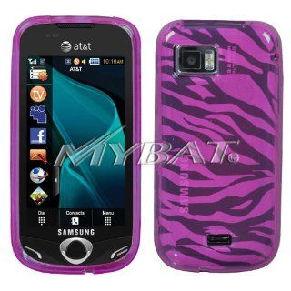 Samsung Mythic A897 Hot Pink Zebra Skin Candy Skin Cover Silicone/Gel/Soft/Cover/Case Cell Phones & Accessories