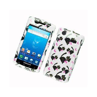 Samsung Captivate i897 SGH I897 BowBow Tie Black Cat White Glossy Cover Case Cell Phones & Accessories