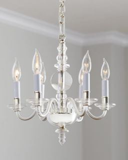 George II Polished Silver Mini Chandelier   VISUAL COMFORT