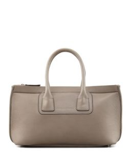 Neoprene/Leather Tote Bag, Dark Gray   Brunello Cucinelli