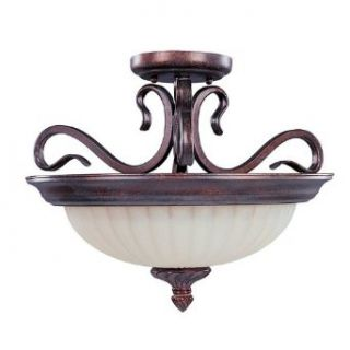 Maxim Lighting 2781SVGB 2 Light Roma Semi Flush Ceiling   Semi Flush Mount Ceiling Light Fixtures